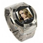 VIP Quad Band Stainless Steel FM Radio Watch Mobile Phone